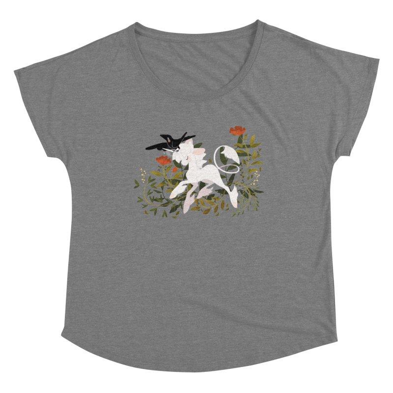 Crow & Unicorn Women's Scoop Neck by StrangelyKatie's Store