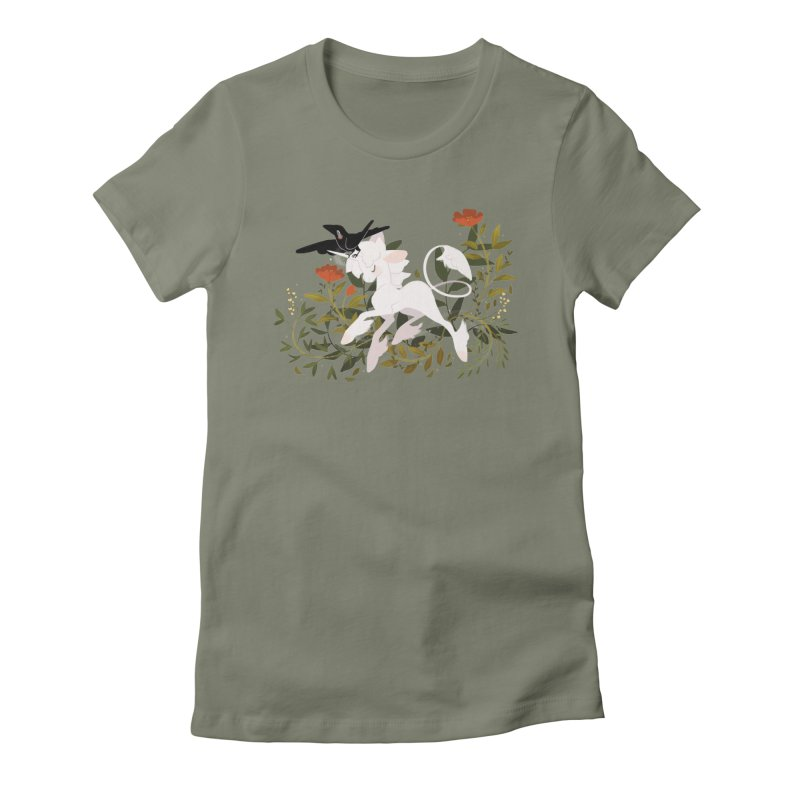 Crow & Unicorn Women's Fitted T-Shirt by StrangelyKatie's Store