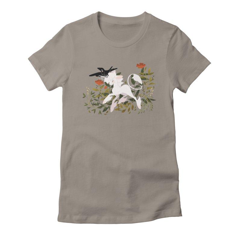 Crow & Unicorn Women's Fitted T-Shirt by StrangelyKatie's Store