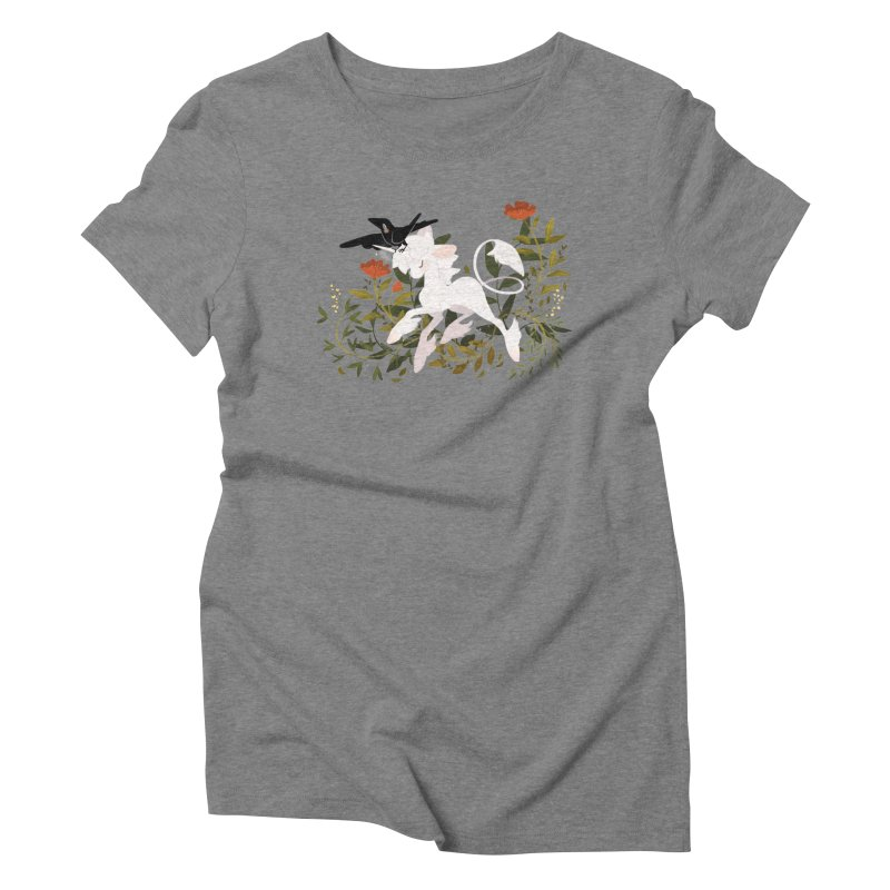 Crow & Unicorn Women's Triblend T-Shirt by StrangelyKatie's Store