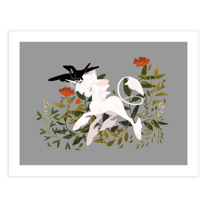 Crow & Unicorn Home Fine Art Print by StrangelyKatie's Store