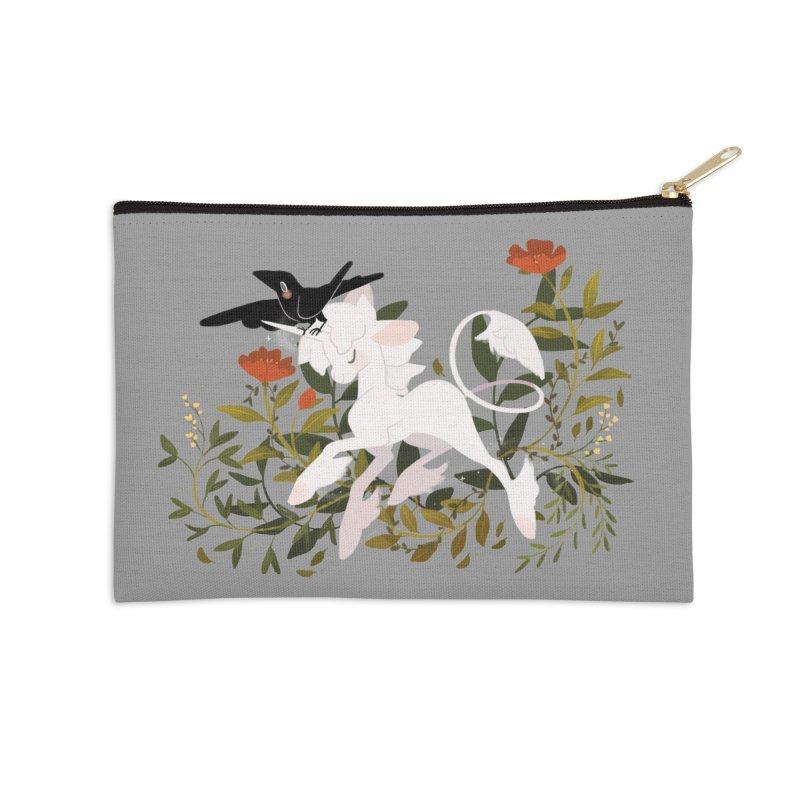 Crow & Unicorn Accessories Zip Pouch by StrangelyKatie's Store