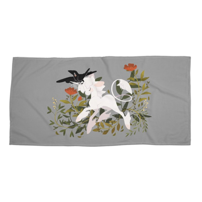 Crow & Unicorn Accessories Beach Towel by StrangelyKatie's Store