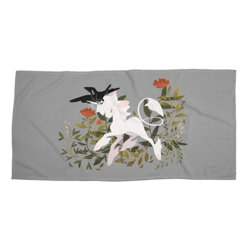 Crow & Unicorn Accessories Beach Towel by StrangelyKatie's Store