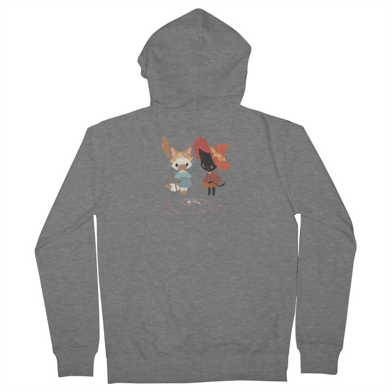 Witch Cats Men's Zip-Up Hoody by StrangelyKatie's Store