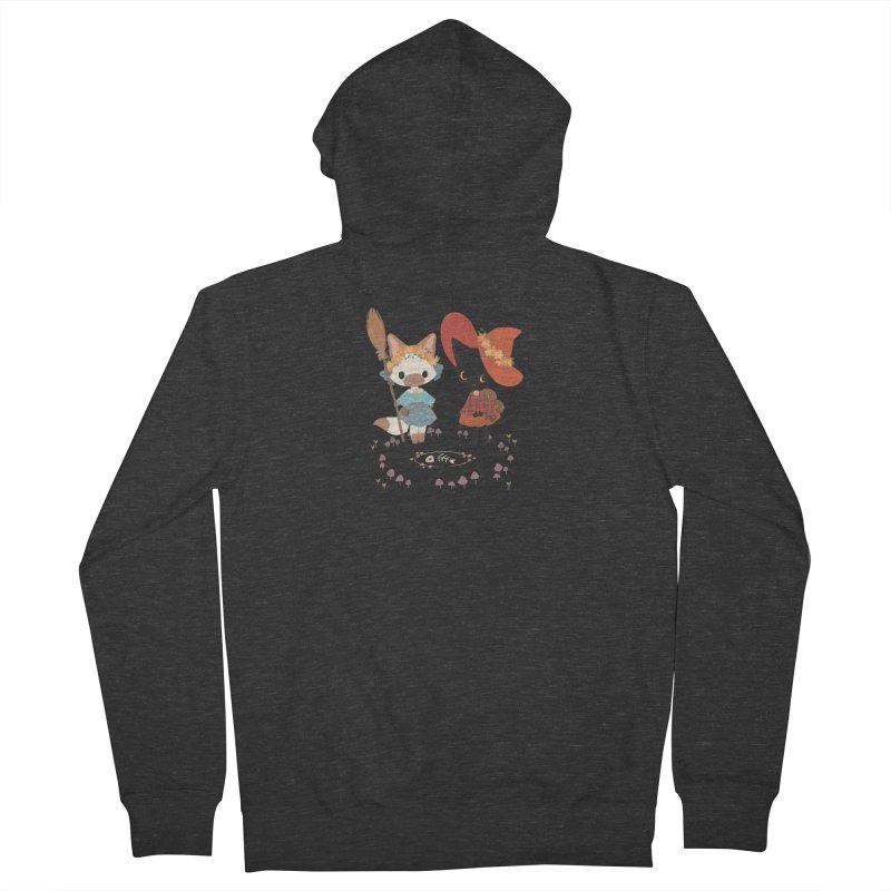 Witch Cats Men's Zip-Up Hoody by StrangelyKatie's Store
