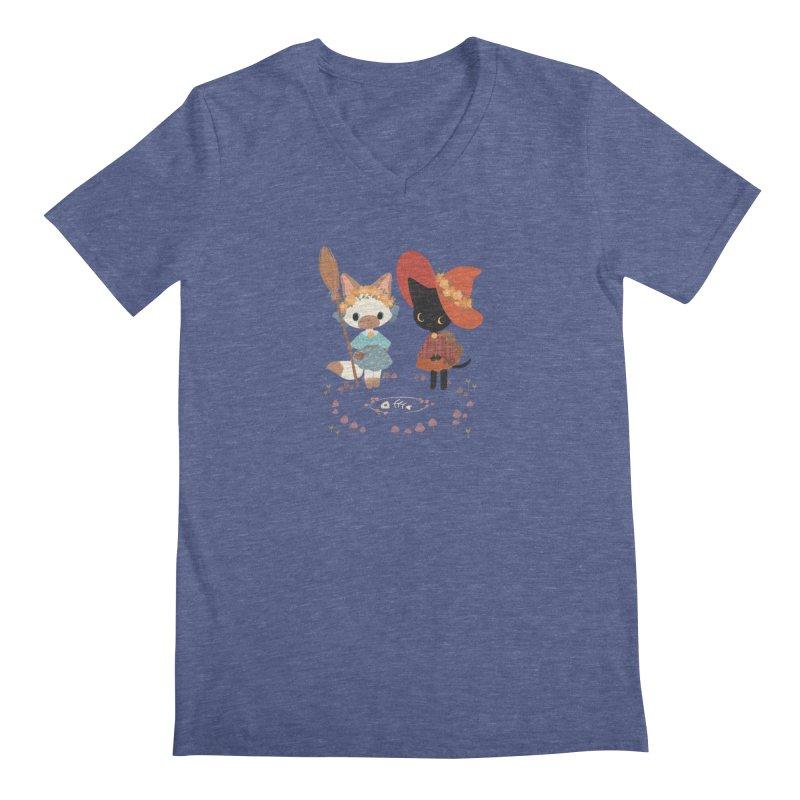 Witch Cats Men's V-Neck by StrangelyKatie's Store