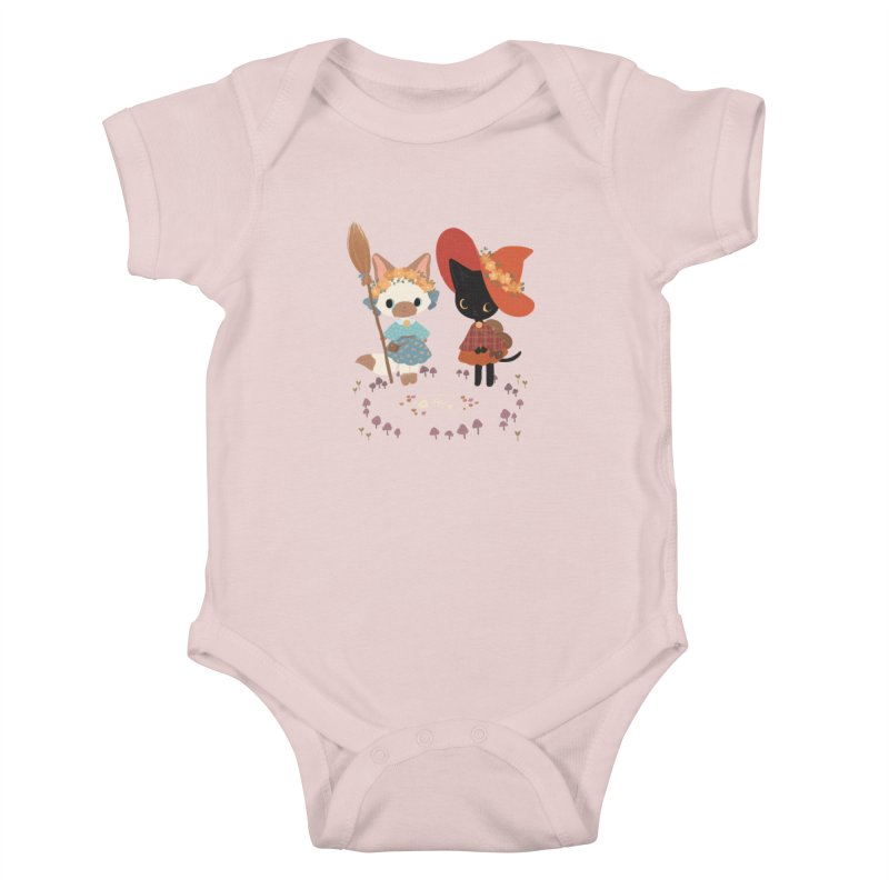Witch Cats Kids Baby Bodysuit by StrangelyKatie's Store