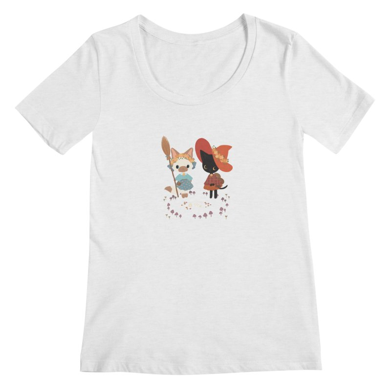 Witch Cats Women's Scoop Neck by StrangelyKatie's Store