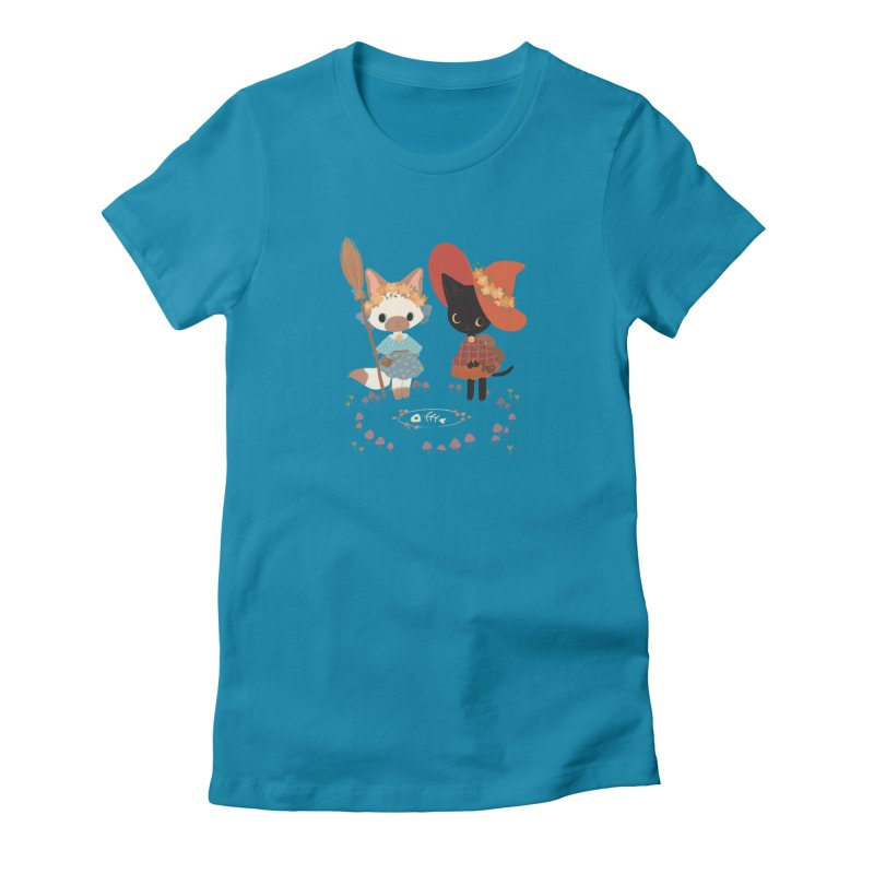 Witch Cats Women's T-Shirt by StrangelyKatie's Store