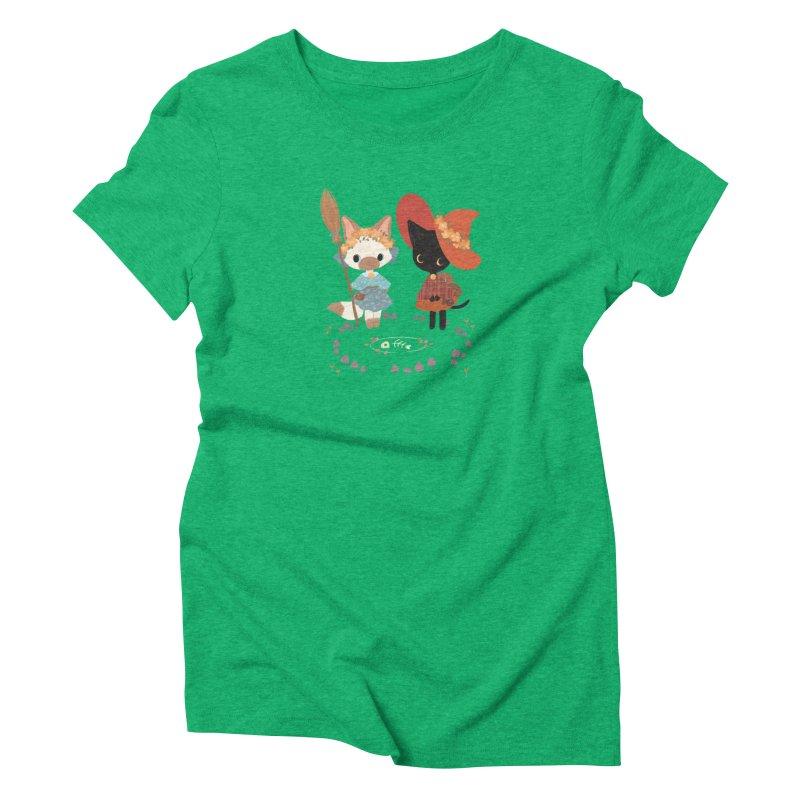 Witch Cats Women's Triblend T-Shirt by StrangelyKatie's Store