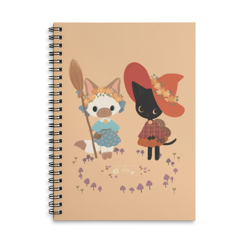 Witch Cats Accessories Lined Spiral Notebook by StrangelyKatie's Store