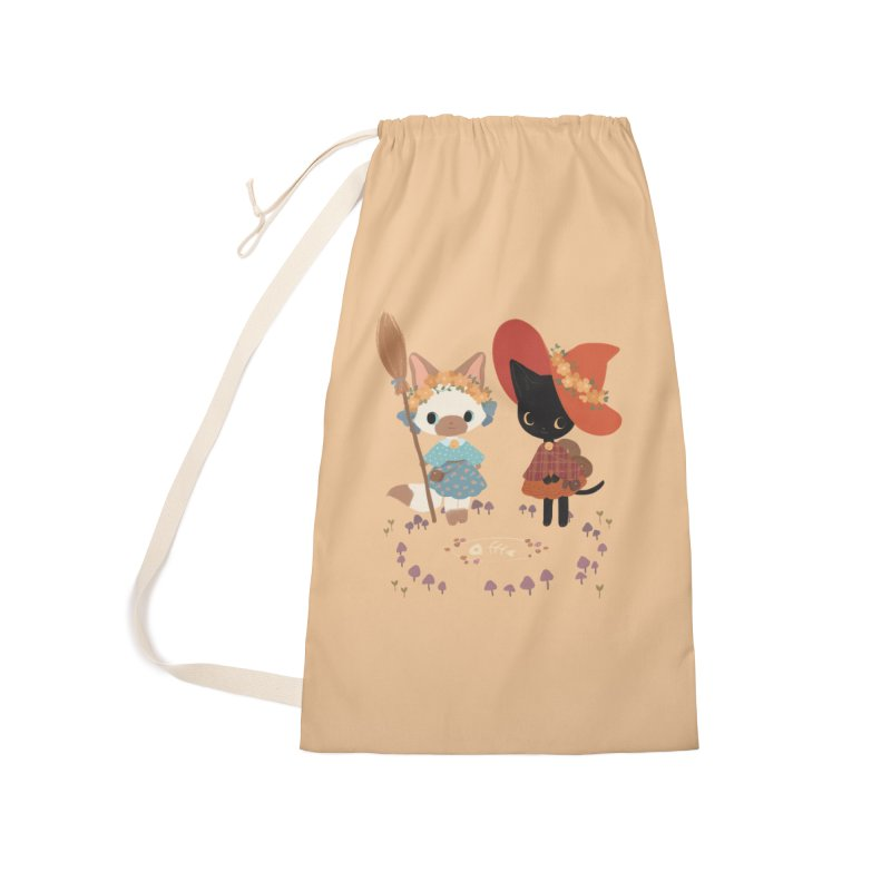 Witch Cats Accessories Laundry Bag Bag by StrangelyKatie's Store