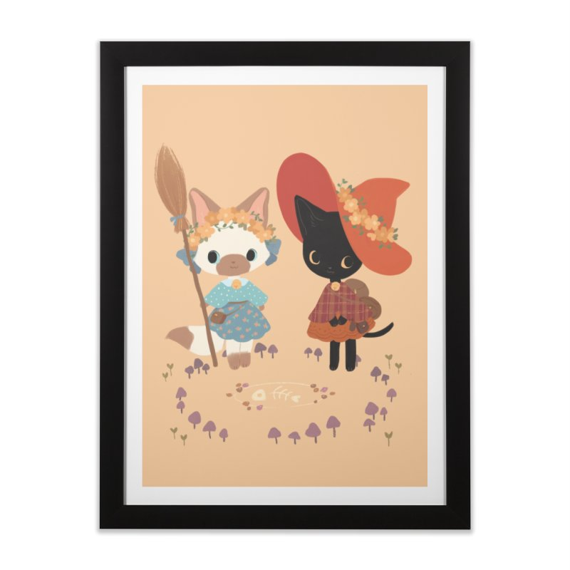 Witch Cats Home Framed Fine Art Print by StrangelyKatie's Store