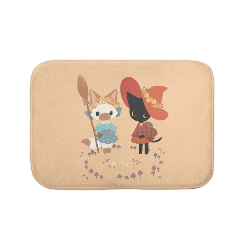 Witch Cats Home Bath Mat by StrangelyKatie's Store