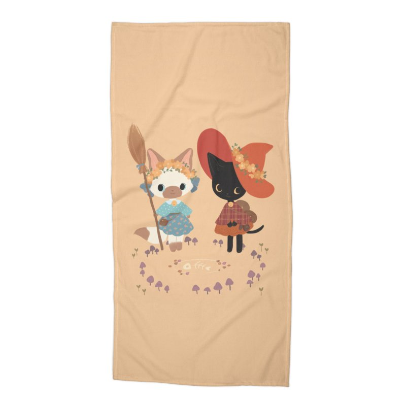 Witch Cats Accessories Beach Towel by StrangelyKatie's Store