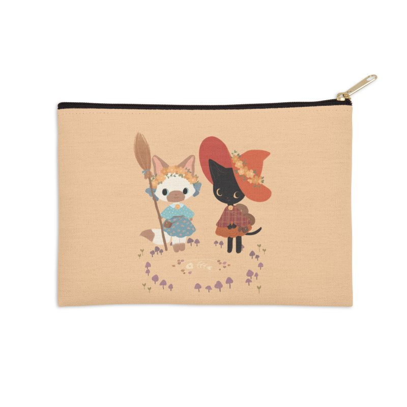 Witch Cats Accessories Zip Pouch by StrangelyKatie's Store