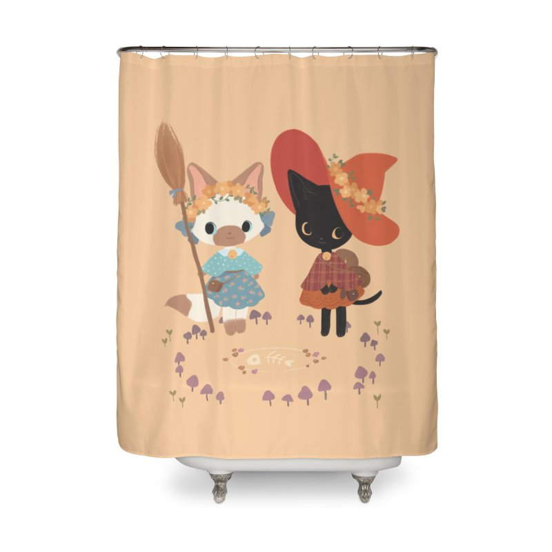Witch Cats Home Shower Curtain by StrangelyKatie's Store