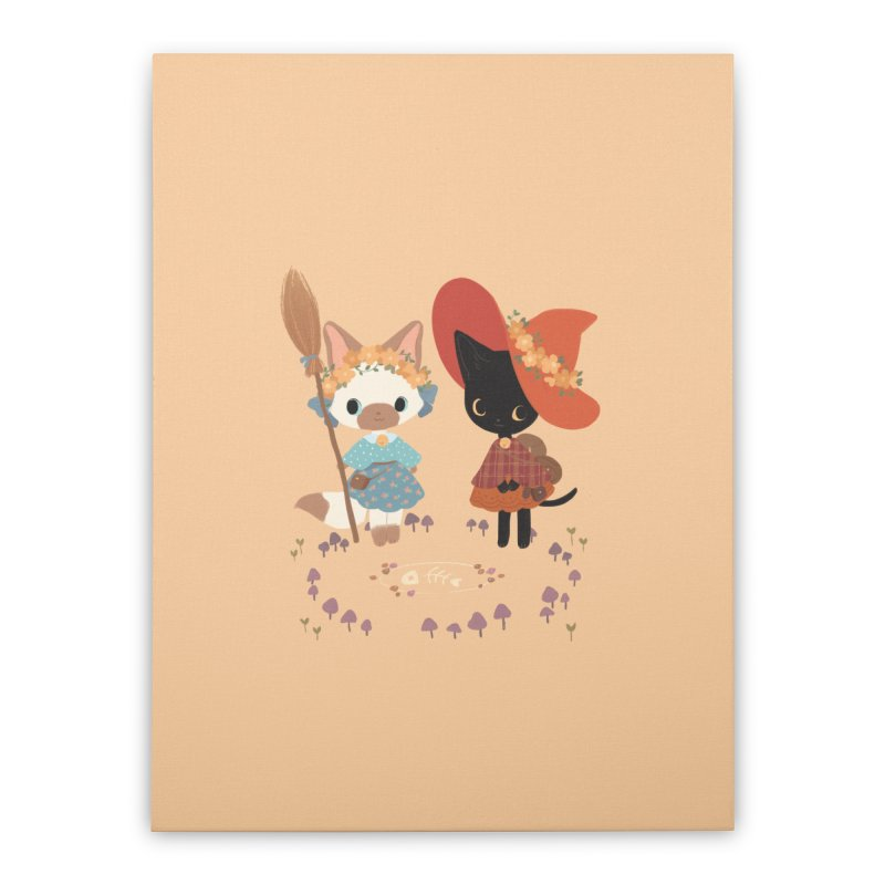 Witch Cats Home Stretched Canvas by StrangelyKatie's Store