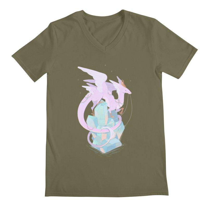 Crystal Dragon Men's V-Neck by StrangelyKatie's Store