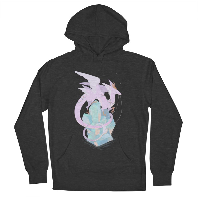 Crystal Dragon Men's French Terry Pullover Hoody by StrangelyKatie's Store