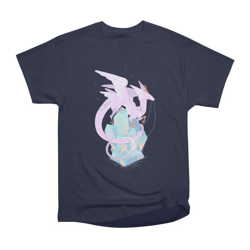 Crystal Dragon Men's Heavyweight T-Shirt by StrangelyKatie's Store