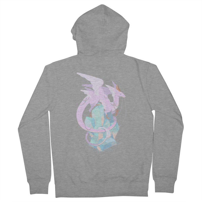 Crystal Dragon Women's French Terry Zip-Up Hoody by StrangelyKatie's Store