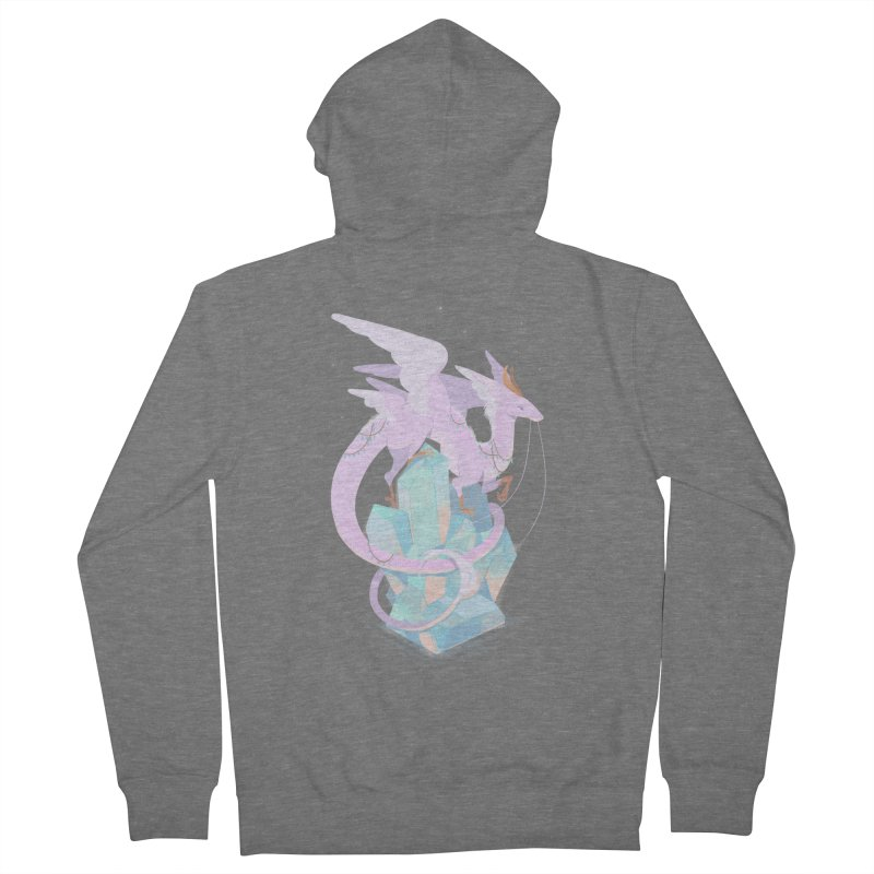 Crystal Dragon Men's French Terry Zip-Up Hoody by StrangelyKatie's Store