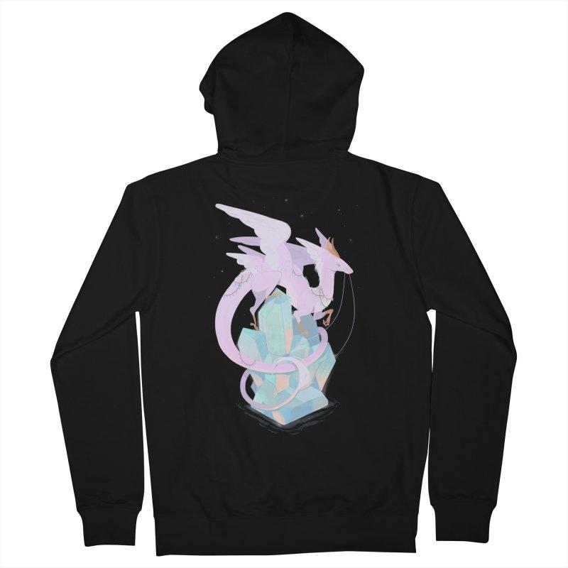 Crystal Dragon Men's Zip-Up Hoody by StrangelyKatie's Store