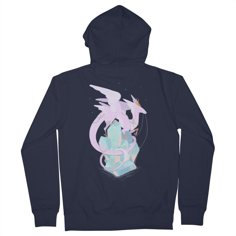 Crystal Dragon Men's Zip-Up Hoody by StrangelyKatie's Store
