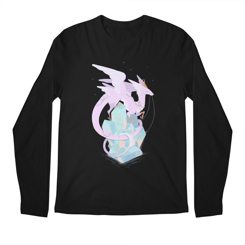 Crystal Dragon Men's Longsleeve T-Shirt by StrangelyKatie's Store