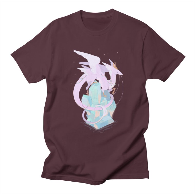 Crystal Dragon Men's Regular T-Shirt by StrangelyKatie's Store