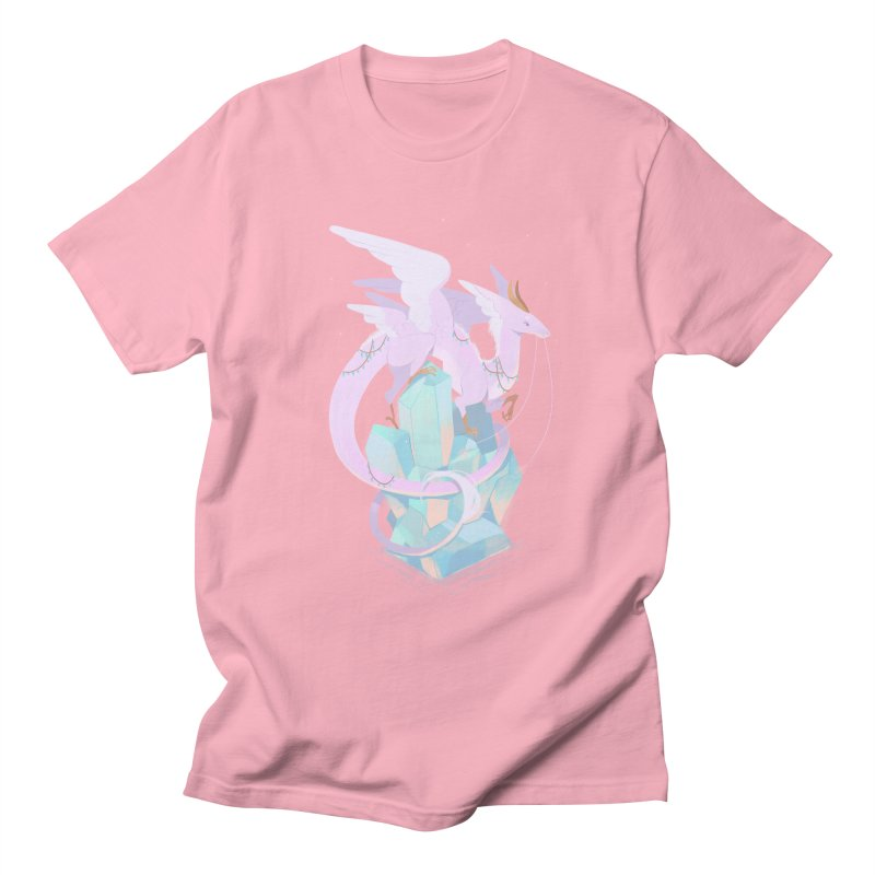 Crystal Dragon Men's T-Shirt by StrangelyKatie's Store