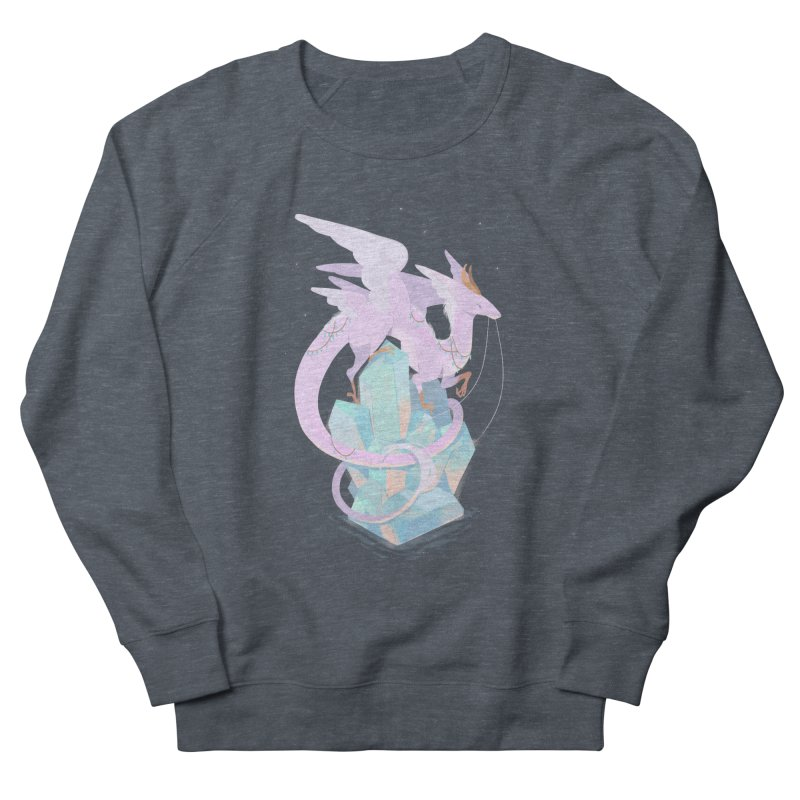 Crystal Dragon Men's French Terry Sweatshirt by StrangelyKatie's Store