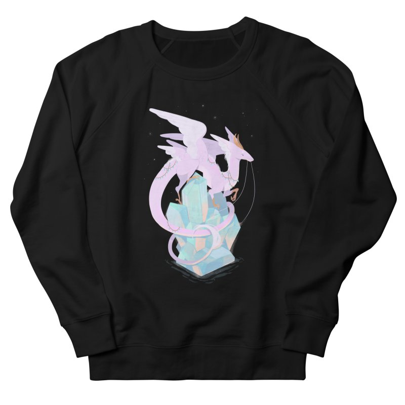 Crystal Dragon Men's French Terry Sweatshirt by StrangelyKatie's Store