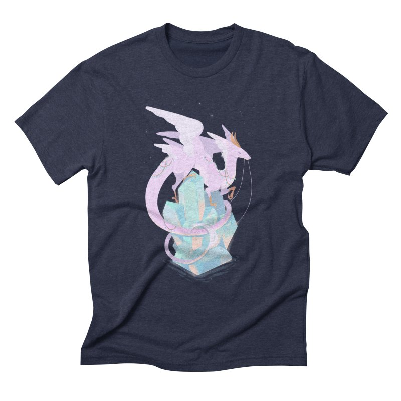 Crystal Dragon Men's Triblend T-Shirt by StrangelyKatie's Store
