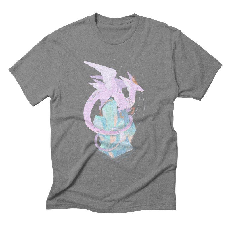 Crystal Dragon Men's Triblend T-Shirt by StrangelyKatie's Store