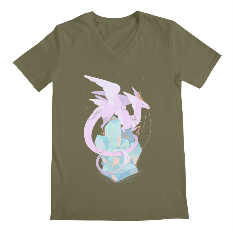 Crystal Dragon Men's V-Neck by StrangelyKatie's Store