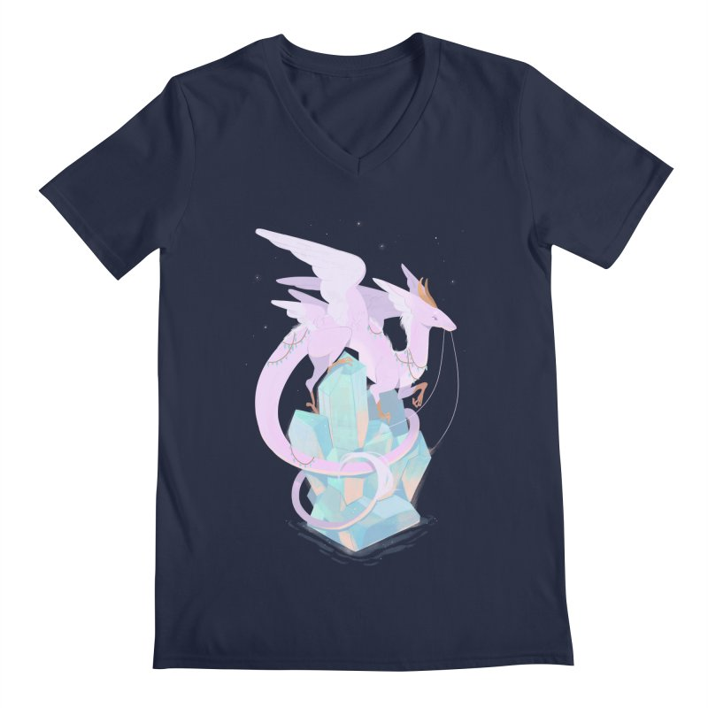Crystal Dragon Men's Regular V-Neck by StrangelyKatie's Store