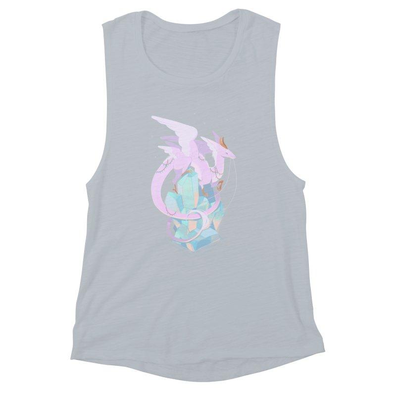 Crystal Dragon Women's Muscle Tank by StrangelyKatie's Store