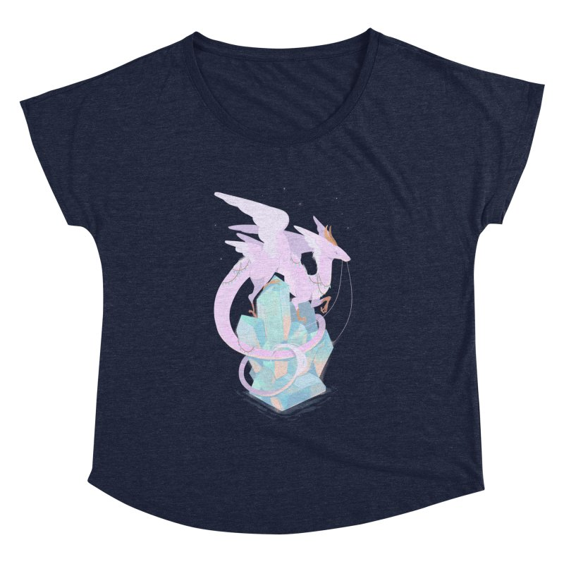 Crystal Dragon Women's Dolman Scoop Neck by StrangelyKatie's Store