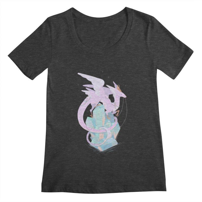 Crystal Dragon Women's Scoopneck by StrangelyKatie's Store