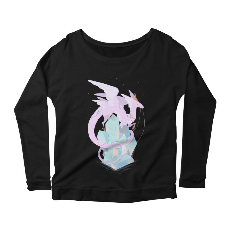 Crystal Dragon Women's Scoop Neck Longsleeve T-Shirt by StrangelyKatie's Store