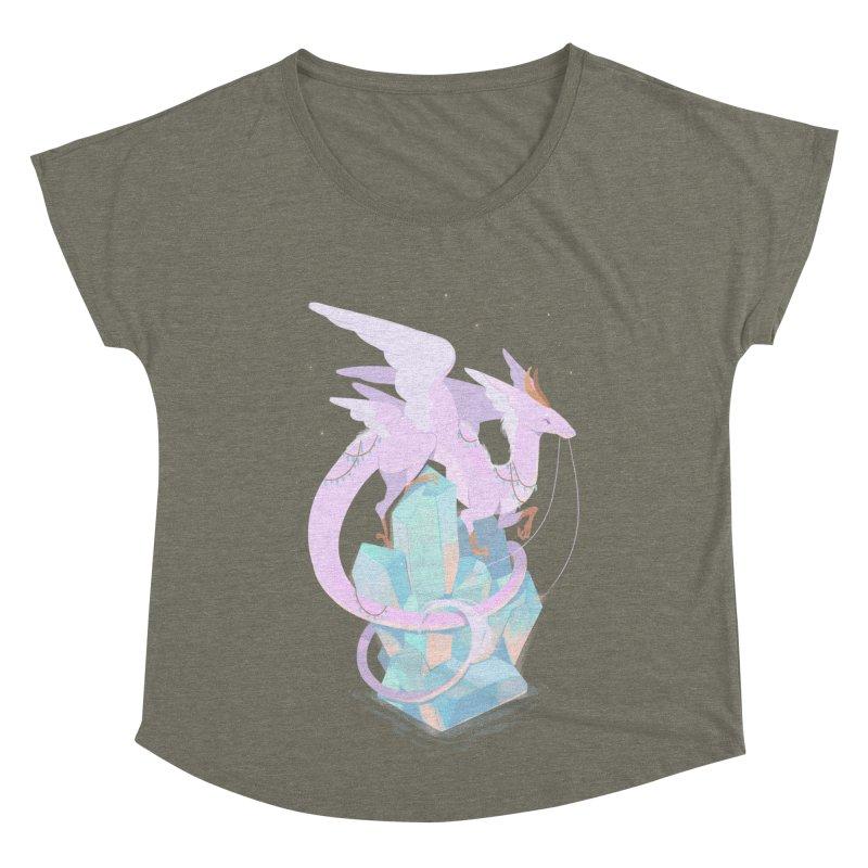 Crystal Dragon Women's Scoop Neck by StrangelyKatie's Store
