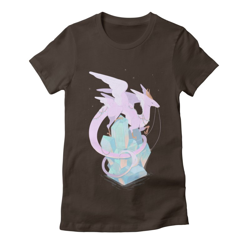 Crystal Dragon Women's Fitted T-Shirt by StrangelyKatie's Store