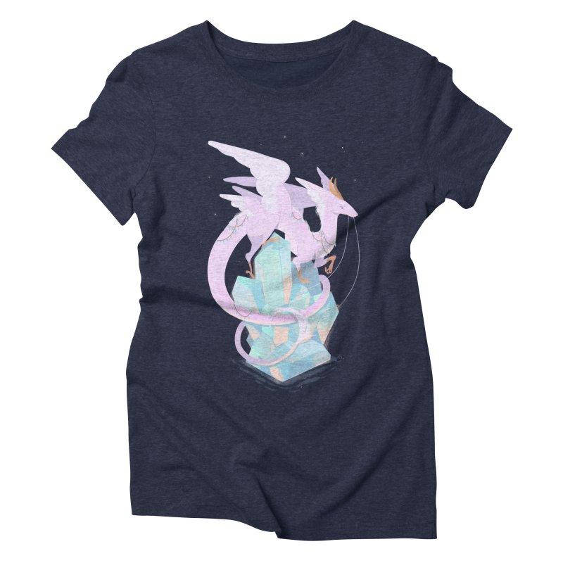Crystal Dragon Women's Triblend T-Shirt by StrangelyKatie's Store