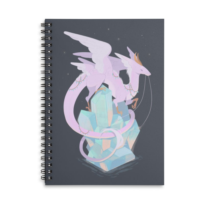 Crystal Dragon Accessories Lined Spiral Notebook by StrangelyKatie's Store
