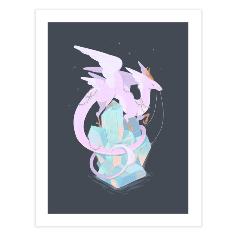 Crystal Dragon Home Fine Art Print by StrangelyKatie's Store