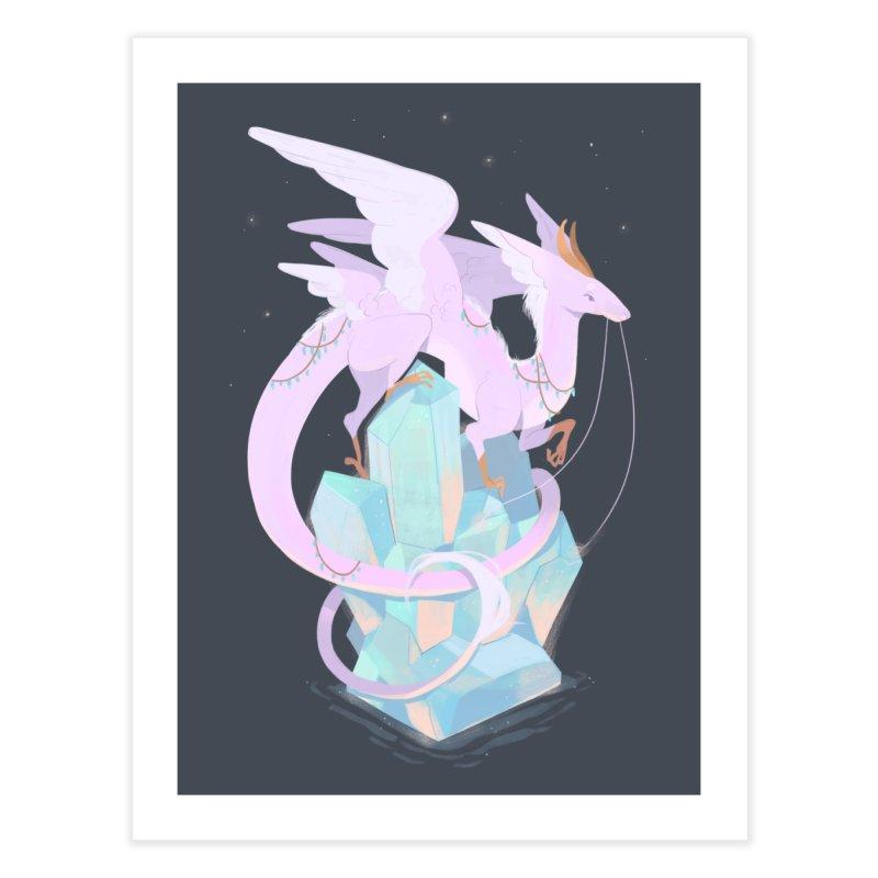 Crystal Dragon Home Fine Art Print by StrangelyKatie's Store