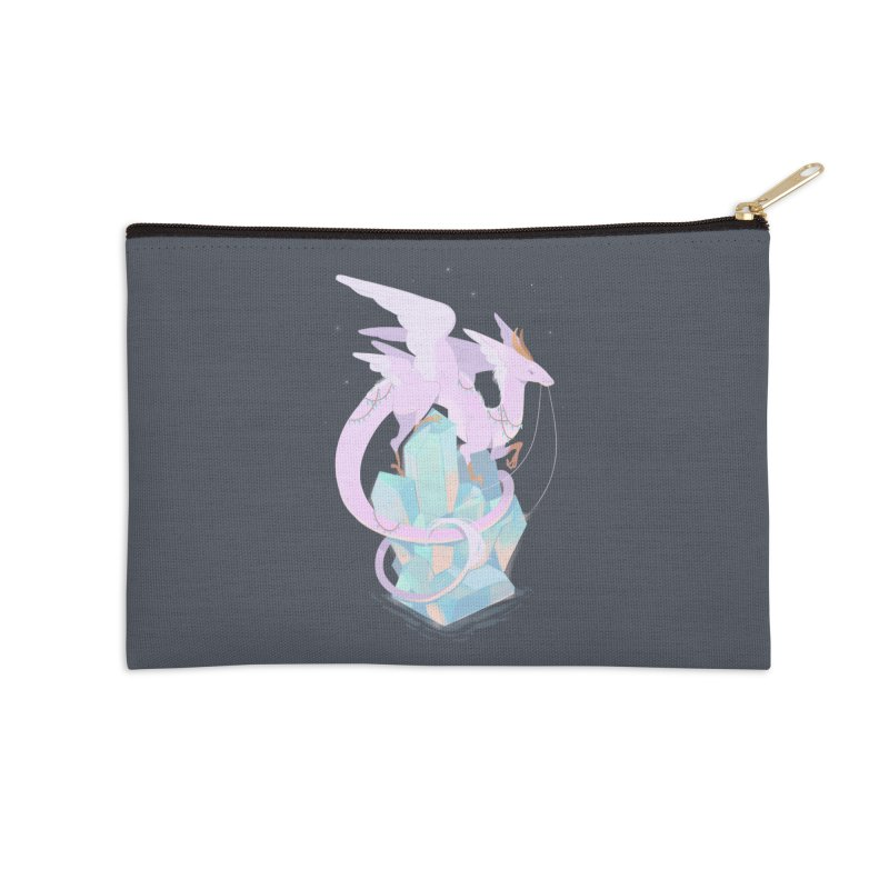 Crystal Dragon Accessories Zip Pouch by StrangelyKatie's Store